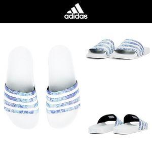Adidas Adilette Slip On Sandals Sz 10